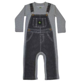 Baby Boy John Deere Mock Overalls French Terry Coverall