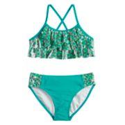 Girls 7-16 SO® Mermaid Tribe Waterfall Bikini Top & Bottoms Swimsuit Set