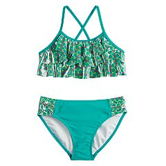 Girls 7-16 SO® Mermaid Tribe Waterfall Bikini Top & Bottoms Swimsuit Set