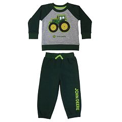 Baby Boy John Deere Tractor French Terry Top & Pants Set