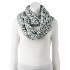 Women's LC Lauren Conrad Chunky Knit Lurex Infinity Scarf