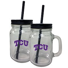 TCU Horned Frogs Mason Jar Set