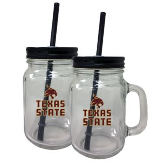 Texas State Bobcats Mason Jar Set