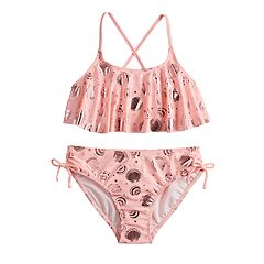Girls 7-16 SO® Shell Paradise Top & Bottoms Bikini Swimsuit Set