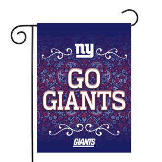 New York Giants Garden Flag with Pole