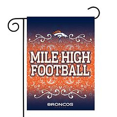 Denver Broncos Garden Flag with Pole