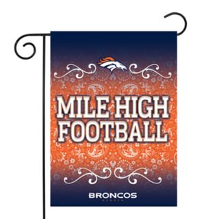 Denver Broncos Garden Flag with Pole