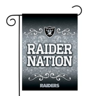 Oakland Raiders Garden Flag with Pole