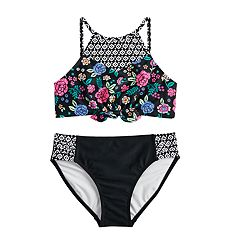 Girls 7-16 SO® Bright Blooms Tankini Top & Bottoms Swimsuit Set