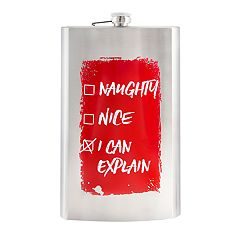Wembley 'Naughty Nice' Flask 64-oz.