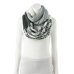 Women's LC Lauren Conrad Colorblock Knit Infinity Scarf