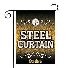 Pittsburgh Steelers Garden Flag with Pole