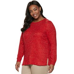 Plus Size Croft & Barrow® Embellished Sweater