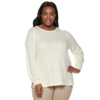 Plus Size Croft & Barrow® Embellished Sweater