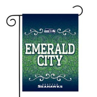 Seattle Seahawks Garden Flag with Pole