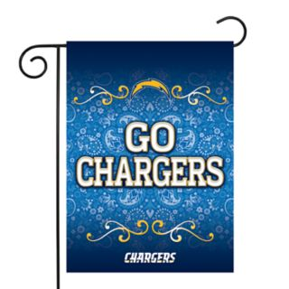 Los Angeles Chargers Garden Flag with Pole