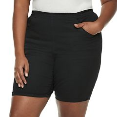 Plus Size Croft & Barrow® Pull-On Twill Shorts
