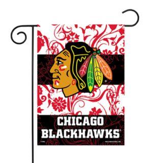 Chicago Blackhawks Garden Flag with Pole