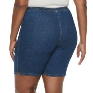 Plus Size Croft & Barrow® Pull-On Denim Shorts