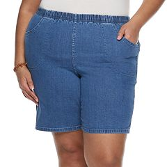 Plus Size Croft & Barrow® Pull-On Denim Shorts