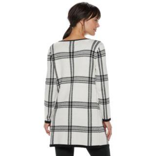 Women's ELLE? Print Open-Front Long Cardigan Jacket