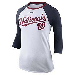 Women's Nike Washington Nationals Raglan Tee