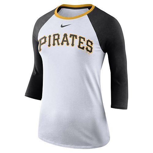 san francisco 7c168 4a5a5 Women's Nike Pittsburgh Pirates Raglan Tee