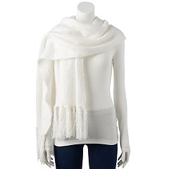 Women's LC Lauren Conrad Brushed Knit Boucle Oblong Scarf