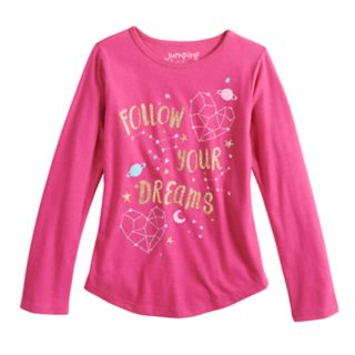 """Girls 4-10 Jumping Beans® """"Follow Your Dreams"""" Constellation Graphic Tee"""