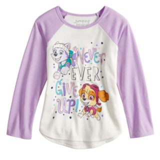 """Girls 4-10 Jumping Beans® Paw Patrol Skye & Everest """"Never Ever Give Up"""" Graphic Tee"""