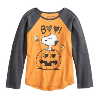 "Girls 4-10 Jumping Beans® Peanuts Snoopy ""Boo"" Pumpkin Graphic Tee"