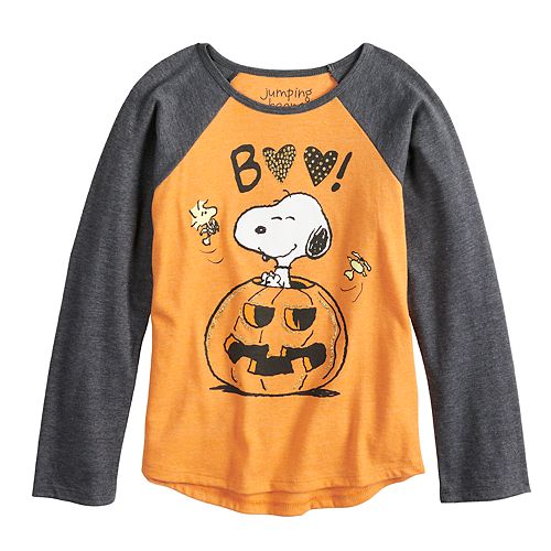 """Girls 4-10 Jumping Beans® Peanuts Snoopy """"Boo"""" Pumpkin Graphic Tee"""