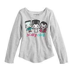 Girls 4-10 Jumping Beans® Little Monsters 'Scary Cute' Glittery Graphic Tee