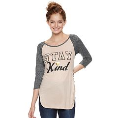 Juniors' 'Stay Kind' Raglan Tee