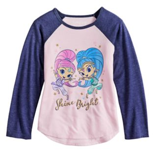 Girls 4-10 Jumping Beans® Shimmer & Shine Glitter Graphic Tee