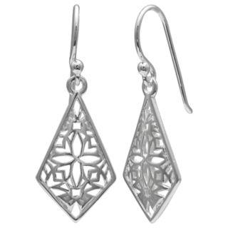 PRIMROSE Sterling Silver Filigree Kite Earrings