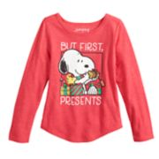 "Girls 4-10 Jumping Beans® Peanuts Snoopy ""But First, Presents"" Graphic Tee"