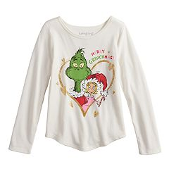 Girls 4-10 Jumping Beans® Dr. Seuss The Grinch & Cindy Lou Who 'Merry Grinchmas' Graphic Tee