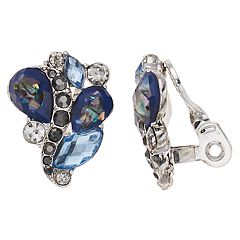 Napier Blue Cluster Clip On Earrings