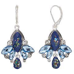 Napier Blue Cluster Drop Earrings