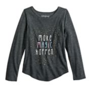 "Girls 4-10 Jumping Beans® ""Make Magic Happen"" Glittery Graphic Tee"