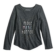 Girls 4-10 Jumping Beans® 'Make Magic Happen' Glittery Graphic Tee