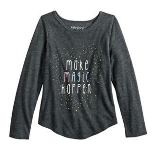 "Girls 4-10 Jumping Beans® ""Make Magic Happen"" Glittery Graphic Tee"