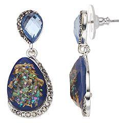 Napier Blue Double Drop Earrings
