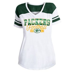 Women's New Era Green Bay Packers Burnout Tee
