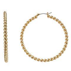 Napier Twist Hoop Earrings