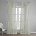 EFF Calais Tile Patterned Sheer Curtain