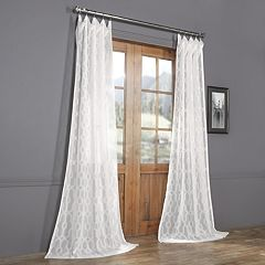 EFF Limoges Geo Patterned Sheer Curtain