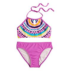 Girls 7-16 SO® Time To Shine Halter Bikini Top & Bottoms Swimsuit Set
