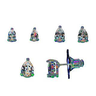 Napier 3-pair Pear Stud Earrings Set
